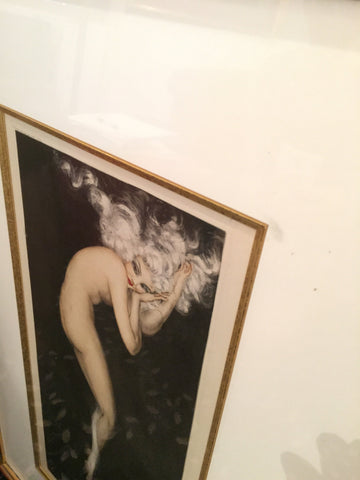 "Louis Icart (French, 1888-1950), ""Illusion, Tabac Blond"", 1940, aquatint and drypoint with hand-coloring"