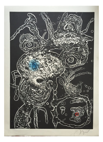"Joan Miró (Spanish, 1893-1983), ""Hommage à Joan Miró"", 1973, etching with carborundum (Dupin 868)"