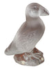 Lalique Frosted and Molded Glass Standing Puffin Figurine, contemporary