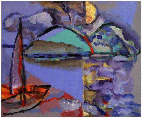 "Toni Franovic (Croatian, b. 1964), ""Sailing Boat"", 2008, oil on linen, signed"