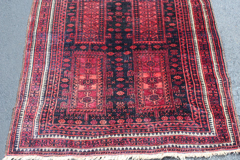Baluch Rug, 1st quarter 20th century, Western Afghanistan, 6 ft. 4 in. x 3 ft. 5 in.