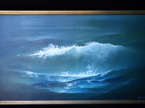 Bob Tapia (American, contemporary), Wave, oil on canvas, signed