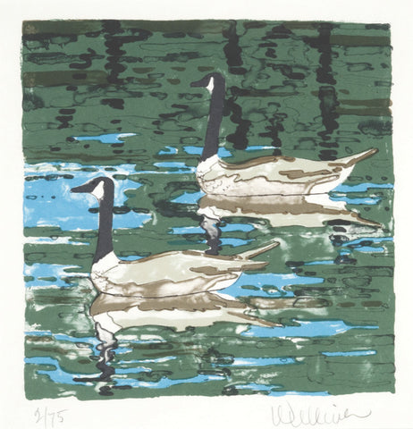 "Neil Welliver (American, 1929-2005), ""Canada Geese"", 1978, lithograph, signed"