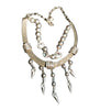 Gianni Versace Silver Tone and Rhinestone Fashion Necklace, Italian, early 21st century
