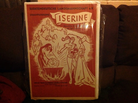 "German Theater Poster for ""Iserine"", a romance in five acts, attributed to George Cherepov (1909-1987), 1950"