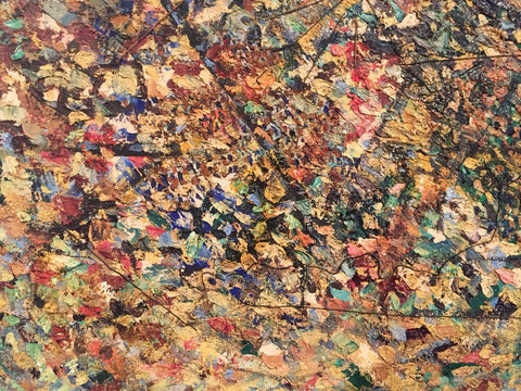 William Corasick (American, 1907-2002), Untitled, 1960, oil/mixed media on canvas, signed