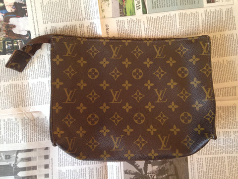 Louis Vuitton Monogram Canvas Cosmetic Pouch, 20th century