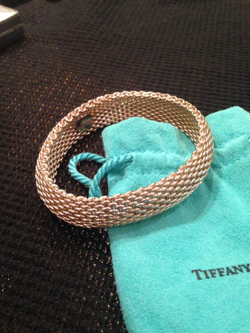 Tiffany & Co. Sterling Silver Mesh Bracelet