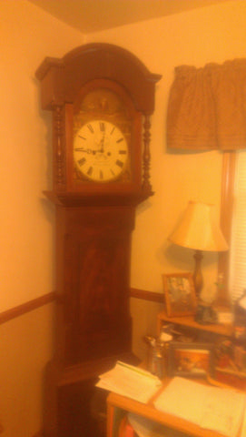English Mahogany Longcase Clock