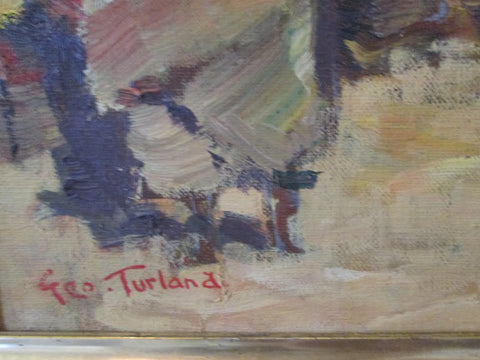 "George Turland Goosey (1877 - 1947), ""Tunisia Market"", oil on canvas, signed"