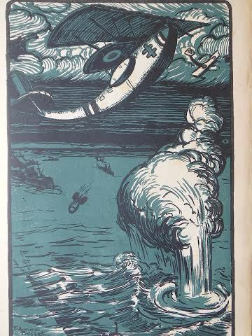 Maurice Busset (French, 1879-1936), En Avion Vols Et Combats, Folio, 24 Lithographs, published by Librarie Delagrave, 1919