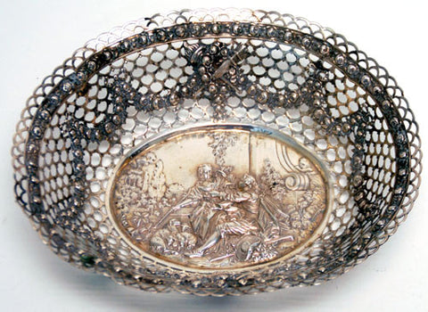 German Silver Reticulated Dish
