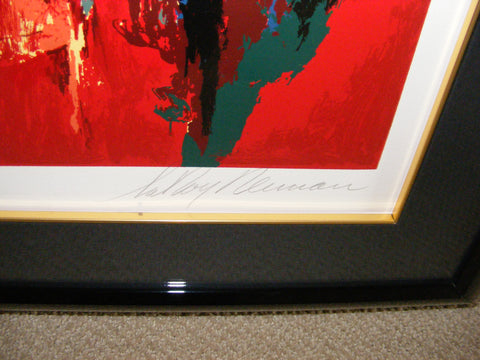 "LeRoy Neiman (American, 1921-2012) ""The Gaming Table"", serigraph in colors, 1990, signed and numbered"