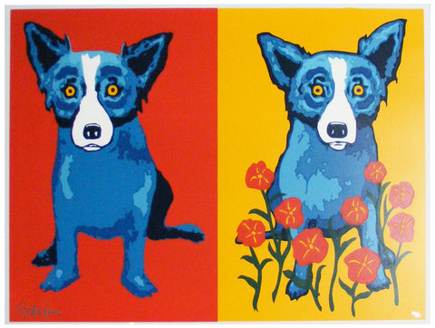 George Rodrigue (American, 1944-2013), Sweetheart Memories, 1998, screenprint in colors, signed, numbered 30/80