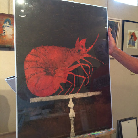 Rufino Tamayo (Mexican, 1899-1991), Langosta (Lobster) (Pereda 153), lithograph in colors, signed, numbered 57/75