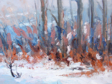 Fred Wagner (American, 1864-1940), Winter Landscape, oil on canvas, signed