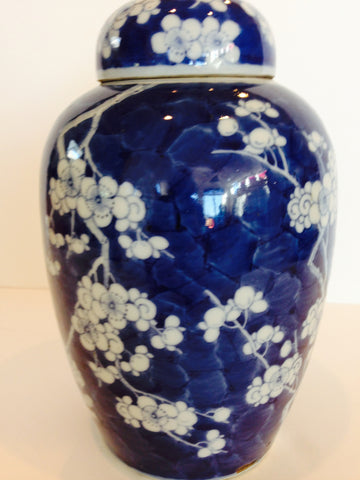 Chinese Blue and White Porcelain Jar and Tespot,  Qing Dynasty