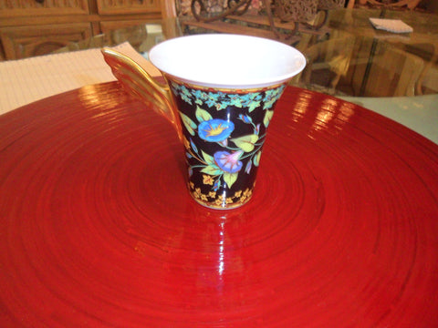 "Continental Porcelain Partial Dessert Service, Versace for Rosenthal, in the ""Gold Ivy"" pattern, late 20th/ early 21st century"