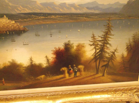 Edmund C. Coates (American, b. England, 1816-1871), Panoramic Landscape View, 1853, oil on canvas, signed, dated