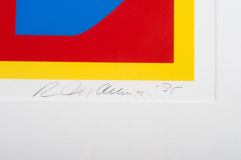 Robert Indiana (American, b. 1928), Heliotherapy Love, 1995, screenprint in colors, signed, edition of 300