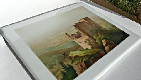 "Two Painted Porcelain Plaques, probably European, signed ""A.J. Burgeon"", late 19th/early 20th century"