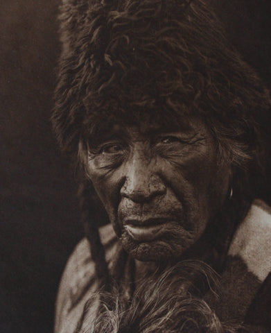 "Edward Sheriff Curtis (American, 1868-1952), Oksoy-Apiw (""Raw-Eater Old-Man"") - Blackfoot, photogravure, 1926"