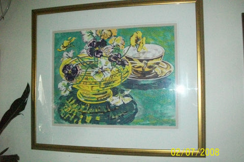 Janet Fish (American, b. 1938), Yellow Bowl, lithograph in colors, 1981, signed, edition of 43