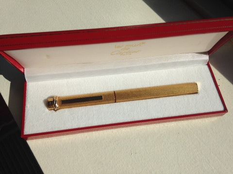 """Le Must de Cartier"" Gold Plated Fountain Pen"