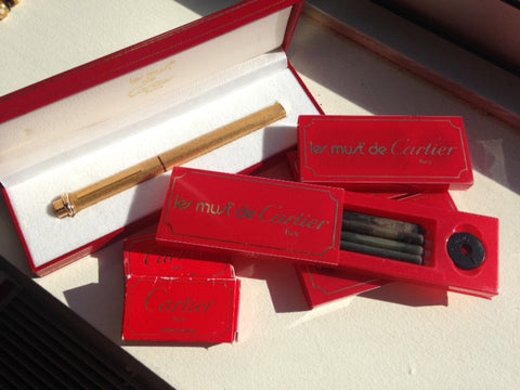 """Le Must de Cartier"" Gold Plated Fountain Pen, Cartier, Stylo Plume Moyenne, ca. 1980"