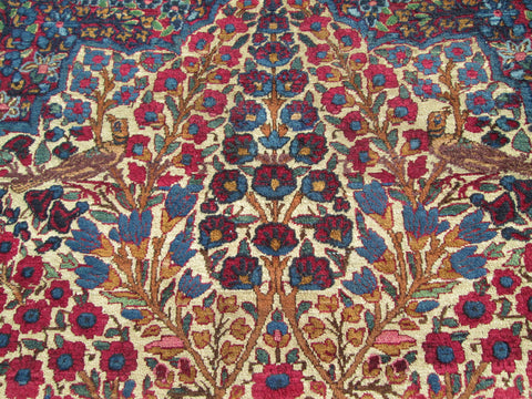 Laver Kerman Tree of Paradise Rug, Central Iran, early 20th century