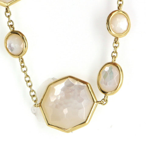 "Ippolita 18K Yellow Gold and Mother of Pearl Necklace, ""Rock Candy"", contemporary"