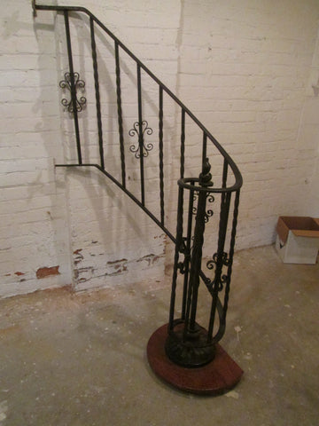 Wrought Iron Partial Spiral Balustrade, 20th century