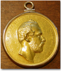 Swedish Gold Presentation Medal, Charles XV Presented to Carolo Alexandro Barclay (Scottish), circa 1872