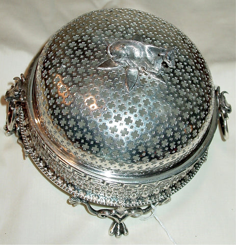 A Victorian Silver-Plated Circular Butter Dish, William Gough, Birmingham, third quarter 19th century