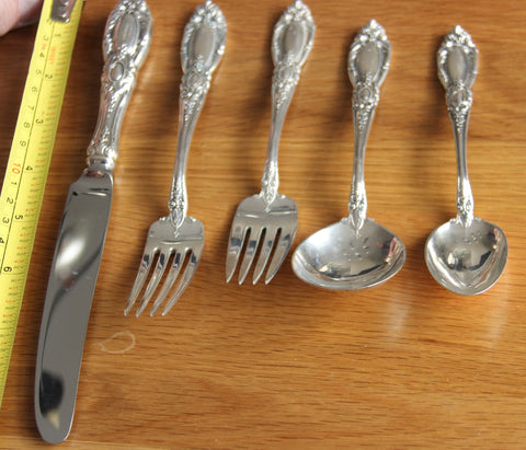 "American Silver Flatware Service, Towle Silversmiths, Newburyport, Ma., ca. 1940, in the ""King Richard"" pattern"