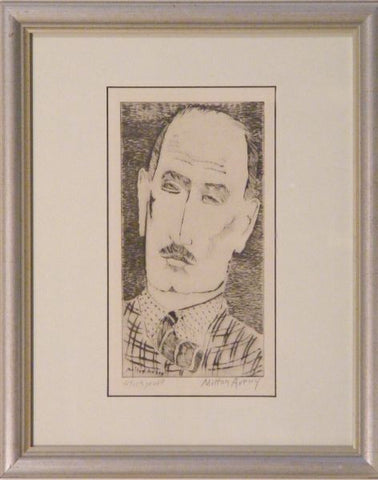 Milton Avery (American, 1885-1965), Head of a Man (Lunn 8), portrait of Louis Wiesenberg, the artist, drypoint, 1935