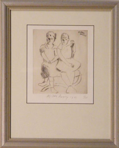 Milton Avery (American, 1885-1965), Helen and Lily (Lunn 23), drypoint, 1941, signed and dated in pencil, ed. of 60