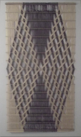 "Peter Collingwood (British, 1922-2008), ""Macrogauze"", linen yarn with stainless steel rods, 1974, signed"