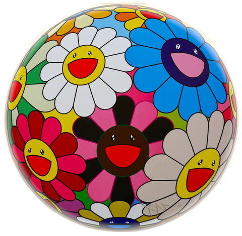 "Takashi Murakami (Japanese, b. 1962), ""Flower Ball (Algae Ball)"", 2013, offset lithograph in colors, signed and numbered"