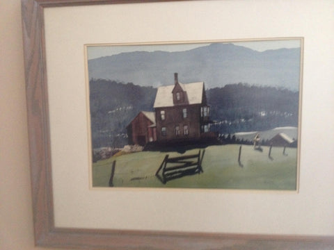 Edmund Walton Blodgett (American, 1908-1963), Rural Landscape, watercolor on paper, signed