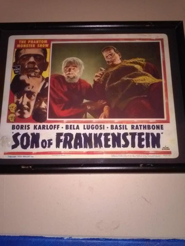 Son of Frankenstein Portrait Lobby Card, 1953 reissue