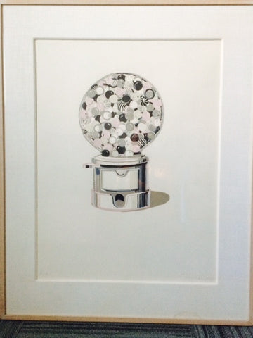 Wayne Thiebaud (American, b. 1920), Gumball Machine, 1971, linocut in colors, signed and dated