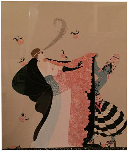 ErtéŽ (Romain de Tirtoff) (Russian/French, 1892-1990), The Flowered Cape, 1981, screenprint in colors, signed and numbered 46/300