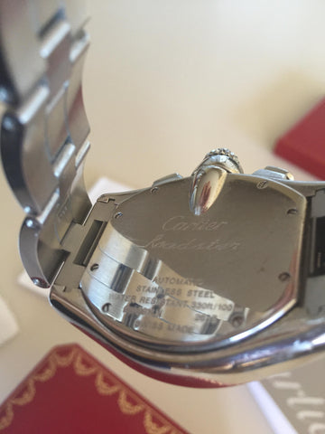 Cartier Mens Stainless Steel Automatic Large Roadster Chronograph Wristwatch, Ref. 2618, Switzerland, ca. 2008