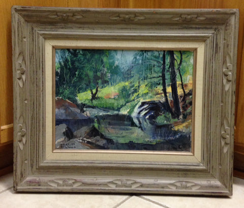 Charles Bell (American, 20th Century), Western Landscape, oil on canvas, signed