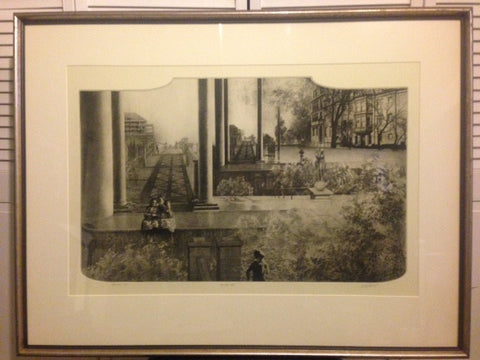"Peter Milton (American, b. 1930), ""The First Gate"", 1974, etching & photoengraving, signed, no. ""ST. PF. #12 3/5"""
