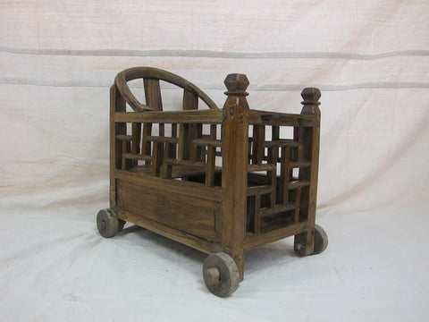 Chinese Yumu or Jumu (Chinese Elm Wood), Childs Carriage, Qing Dynasty, ca. 1875-1890