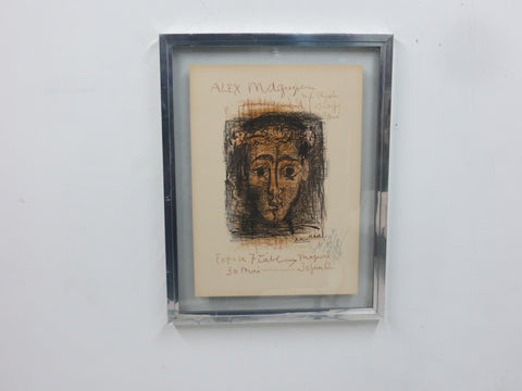 Pablo Picasso (Spanish, 1881-1973), Alex Maguy, GalŽrie de l'ElysŽe, 1962, lithograph in colors, dedication by Maguy