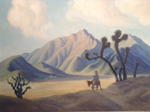 Marion D. Freeman Wakeman (American, 1891-1953), Mexican Landscape, 1937, oil on canvas, signed and dated