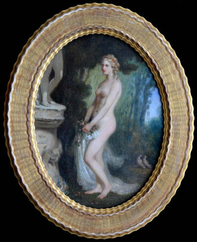 Jules Salles-Wagner (French, 1814-1898), Nude in a Garden, oil on canvas, signed and dated 1851